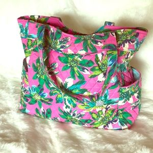 Vera Bradley Tropical Paradise Pleated Tote